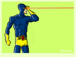 X-Man of the day: CYCLOPS by NelsonHernandez