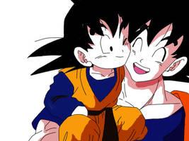 Coloured Goten and Goku by Icha-Tactics