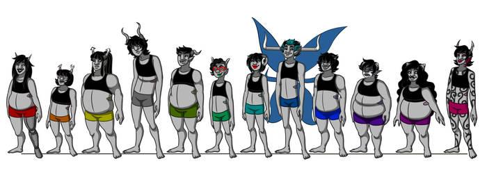 Bloodswap Beforean Trolls -- Body Types by Gemkio