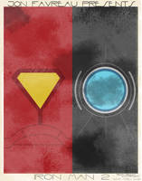 Iron Man 2 Minimalist Poster by Abrcrmbieguy87