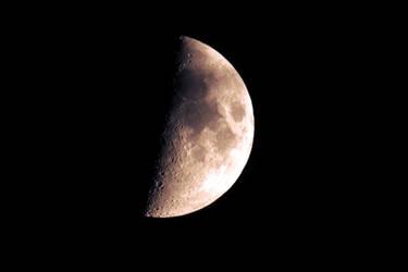 Half of the moon by Finnyanne