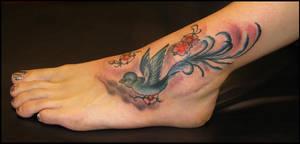 Freehand Bird by Mythos-Tattoo