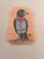 Anthropomorphic Challenge: Sir Crow by erbyderby24