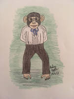 Anthropomorphic Challenge: Mister Chimp by erbyderby24