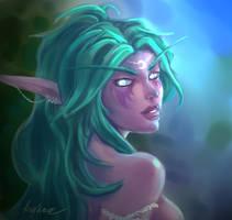 Tyrande, High Priestess of Elune by Roghka