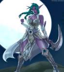 Tyrande, The Night Warrior by Roghka