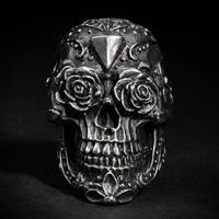 Los Muertos skull ring by fourspeedindonesia