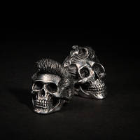 Pompaskull and Pin Up Skull Ring by fourspeedindonesia