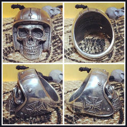 Deathrider Skull Ring by fourspeedindonesia