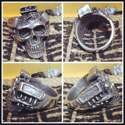 Machine Head Skull Ring by fourspeedindonesia
