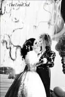 Jareth and Sarah Ballroom Kiss by TheTreviOwl