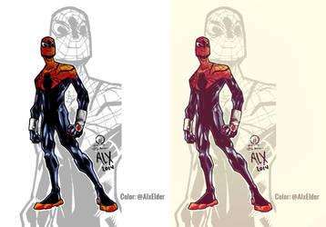 Spidey by Joey Vazquez Color Sketch by alxelder