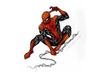 Superior Spiderman color collaboration by alxelder