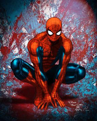 Spider-man Jim Chueng Megacon Sketch 2010 color by alxelder