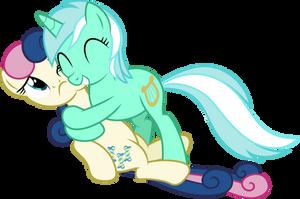 Lyra and Bon Bon - Hug by Vulthuryol00