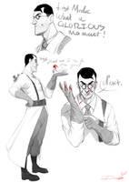 Medic sketches by Denimecho