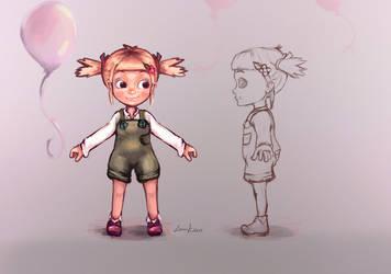 Character Design Girl by Lenuk