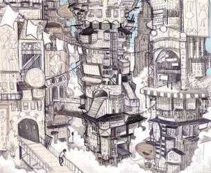 Endless City by shark-bomb