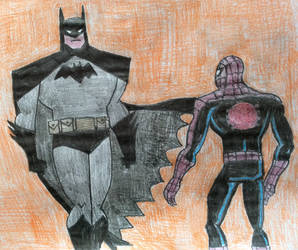 Spider-Man meets Batman by tb86