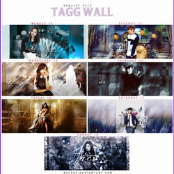 Tagg wall 12 to 18 of Genuary by beezep