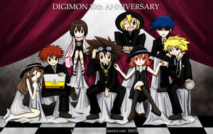 Digimon 10th Anniversary by JinZhan
