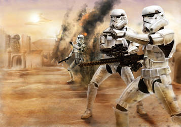 Star Wars- Stormtrooper battle by DookieAdz