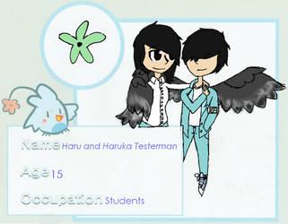 VBA OCs: Haru and Haruka Testerman by SuperArtist3773