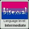 Language stamp: Bisexual Lvl Intermediate by Alpanu