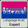 Language stamp: Bisexual Lvl Expert by Alpanu