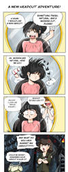 Comic strip - Ripley haircut by Khaneety