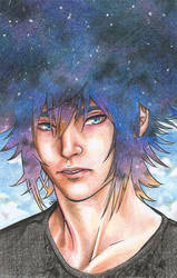 Nightsky Prince - Noctis remaster by Carreauline