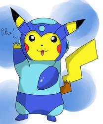 {GIFT] Pikachu and Mega cross fusion by ViviWantsToBattle