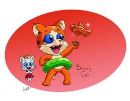 Bouncy Cat Neko, Cute and Courageous by CyberMaroon