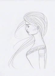 Pensive Pocahontas by sabzlovingart127