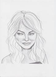 Emma Stone dA by sabzlovingart127
