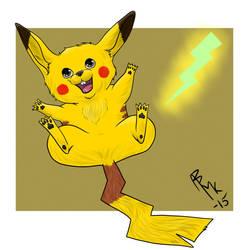 Pikachu  by DarkSunshine92