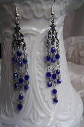 Midnight Snowfall Earrings by Valley-of-Egeria