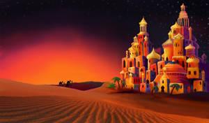 Desert Landscape by Kitty-Olenic