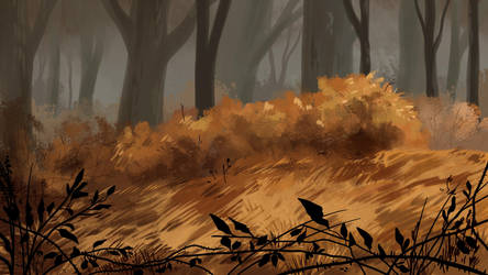 Deep in the woods by ShellyKeyArtwork
