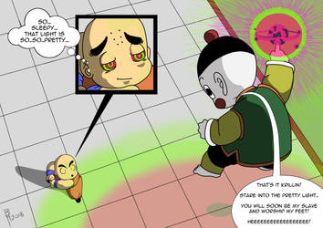 Chiaotzu enslaves Krillin mid Battle! by BrynHexx