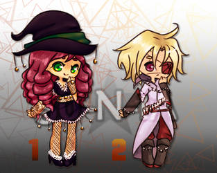 !MD! Halloween Adopts 1, 2 (OPEN) by 50-N-1A