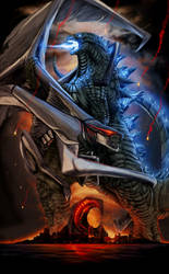 GODZILLA: 60th Anniversary Poster (Atomic Breath) by SeanSumagaysay