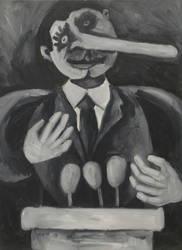 Pinocchio, oil on canvas by Jacklicheukman