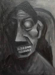 Hitler,23cmx31cm, oil on canvas by Jacklicheukman