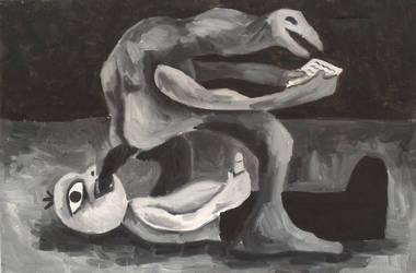 Stockholm syndrome, oil on canvas by Jacklicheukman