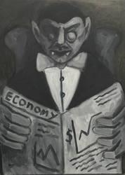 Dracula, oil on canvas by Jacklicheukman