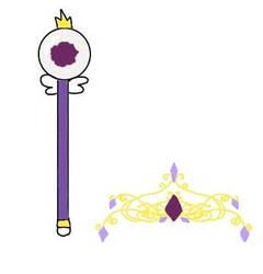 Pari's wand and crown by SingMoonBeaEmoji