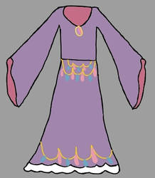Promethea's princess dress by SingMoonBeaEmoji