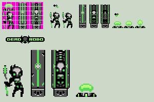 8-bit dead robo by Xeno-striker