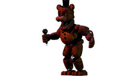 FNAF WORLD minigame withered freddy render remake by NathanNiellYT